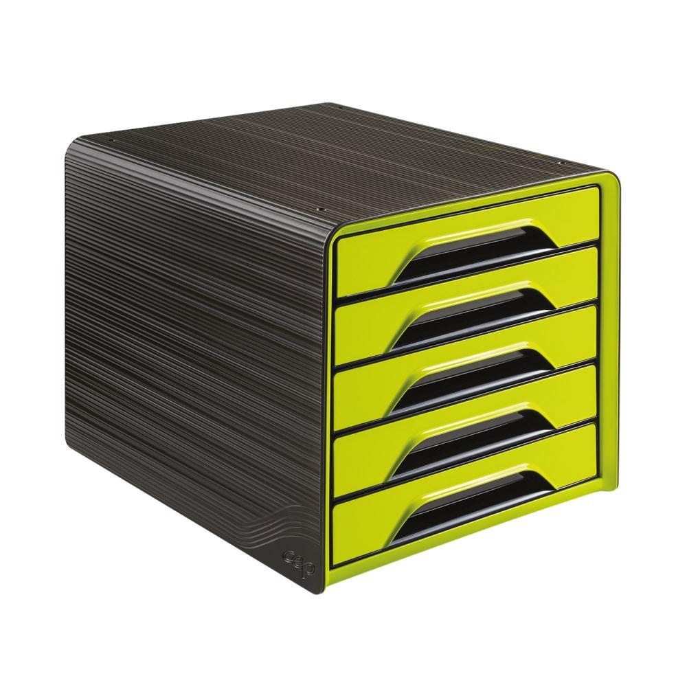 CEP Smoove Black/Green 5 Drawer Set - 1071110301